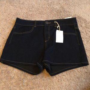 Denim Super Stretch Shorty High rise Shorts